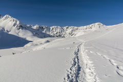 Path trodden in the snow. Royalty Free Stock Photos