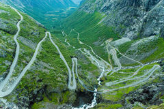 The path of Trollstigen Royalty Free Stock Images