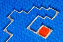 Path trough building blocks Stock Images