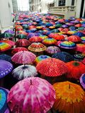 Path of Unbrellas stock image