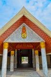 Path under the sacred Tripitaka shrine Royalty Free Stock Photography