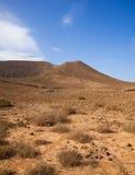 Path up Bayuyo volcano outside of Corralejo Royalty Free Stock Photos