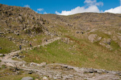 Path up Coniston Old Man Royalty Free Stock Photo