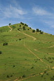 The path up the hill. Balaklava, uphill, the path leading up Royalty Free Stock Photos