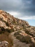 Path up a mountain Stock Photo
