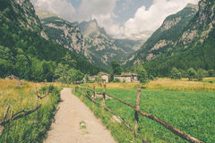 A Path in a valley. The Path in a valley Stock Photos