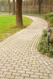 Path in Vertical composition. This path in a park.It's a very beautiful view Royalty Free Stock Photography