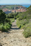 Path village Collioure Mediterranean south France Royalty Free Stock Photography