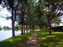 Path way around the lake Royalty Free Stock Photography