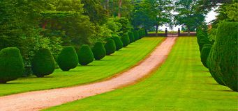 Path way in the country. A path way or track in a garden park Royalty Free Stock Images