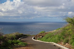 Path way by the ocean Royalty Free Stock Photos