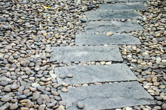 Path way on pebble stone Stock Photos