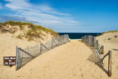 Path way to the beach at Cape Cod. Massachusetts, USA Stock Photo