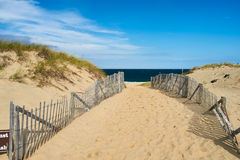 Path way to the beach at Cape Cod Stock Photos