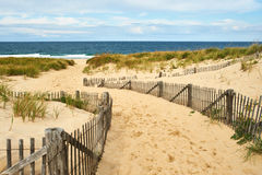 Path way to the beach at Cape Cod. Massachusetts, USA stock images