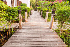Path with wooden bridge Royalty Free Stock Photography