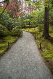 Path through woods. Gravel path through the woods Stock Photos