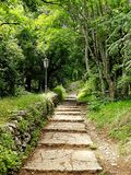A path in the woods in San Marino royalty free stock photos