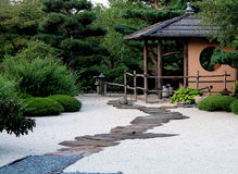 Path in the zen garden Stock Images