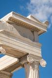 Pathenon detaljer, akropol Arkivfoto