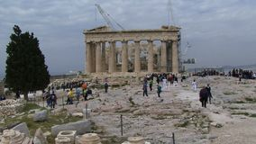 Athens Greece people tourists stock footage