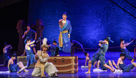 """Pathfinding-Dance drama """"The Dream of Maritime Silk Road"""". Dance drama """"The Dream of Maritime Silk Road"""" centers on the plot of two generations of a Royalty Free Stock Images"""