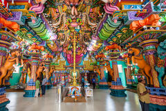 Pathirakali阿曼寺庙,亭可马里 库存照片