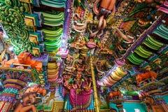 Pathirakali Amman Temple, Trincomalee. TRINCOMALEE, SRI LANKA - FEBRUARY 15, 2017: Pathirakali Amman Temple or Pathrakali Ambal Kovil interior. It's a Hindu Stock Image