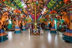 Pathirakali Amman Temple, Trincomalee. TRINCOMALEE, SRI LANKA - FEBRUARY 15, 2017: Pathirakali Amman Temple or Pathrakali Ambal Kovil interior. It's a Hindu Royalty Free Stock Photography