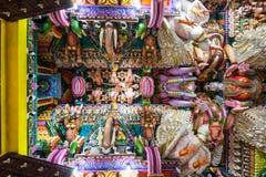 Pathirakali Amman Temple, Trincomalee. TRINCOMALEE, SRI LANKA - FEBRUARY 15, 2017: Pathirakali Amman Temple or Pathrakali Ambal Kovil interior. It's a Hindu Royalty Free Stock Image