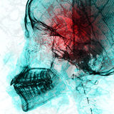 Pathogen abstract with x-ray film background on double exposure Stock Photography
