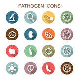 Pathogen long shadow icons Royalty Free Stock Image