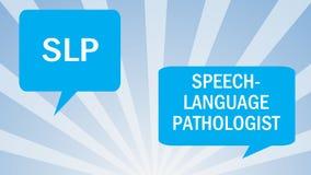 Pathologie de langue de la parole illustration stock