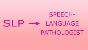Pathologie SLP de langue de la parole illustration libre de droits