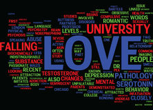 The Pathology Of Love Text Background Word Cloud Concept Stock Photo