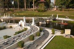 Pathom Boromarachanusorn Bridge in Mini Siam Park Stock Image