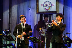 Pathorn Srikaranonda and Jazz Minions band perform in concert Stock Photography
