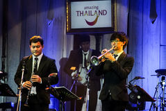 Pathorn Srikaranonda and Jazz Minions band perform in concert Stock Images