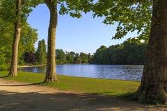 Paths Bois de Vincennes在巴黎 免版税库存照片