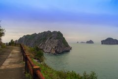 Paths on Cat Ba Island. Stock Photos