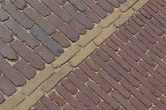 Paths covering of clinker Royalty Free Stock Image