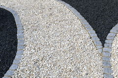 Paths of crushed stone Royalty Free Stock Image