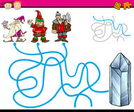Paths or maze cartoon game Stock Images