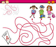 Paths or maze cartoon game Stock Photography