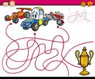 Paths or maze cartoon game Stock Image