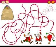 Paths or maze cartoon game Royalty Free Stock Photos