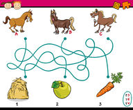 Paths or maze cartoon task Stock Images