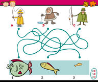 Paths or maze education game Royalty Free Stock Image