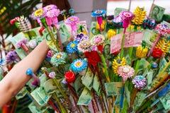 Pathum Thani, Таиланд, - могут, 10,2017: Тайское буддийское meri людей Стоковые Фотографии RF