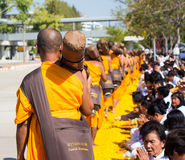 Pathum Thani, TAILANDIA - gennaio 2016: 1.131 monaco da Wat Phr immagini stock